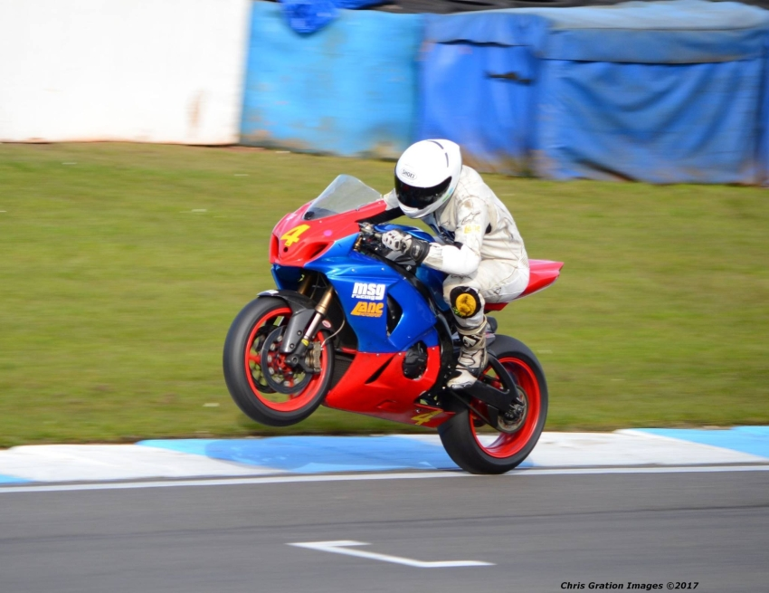 Sam Osborne from Lane Motorsport at Donington Park