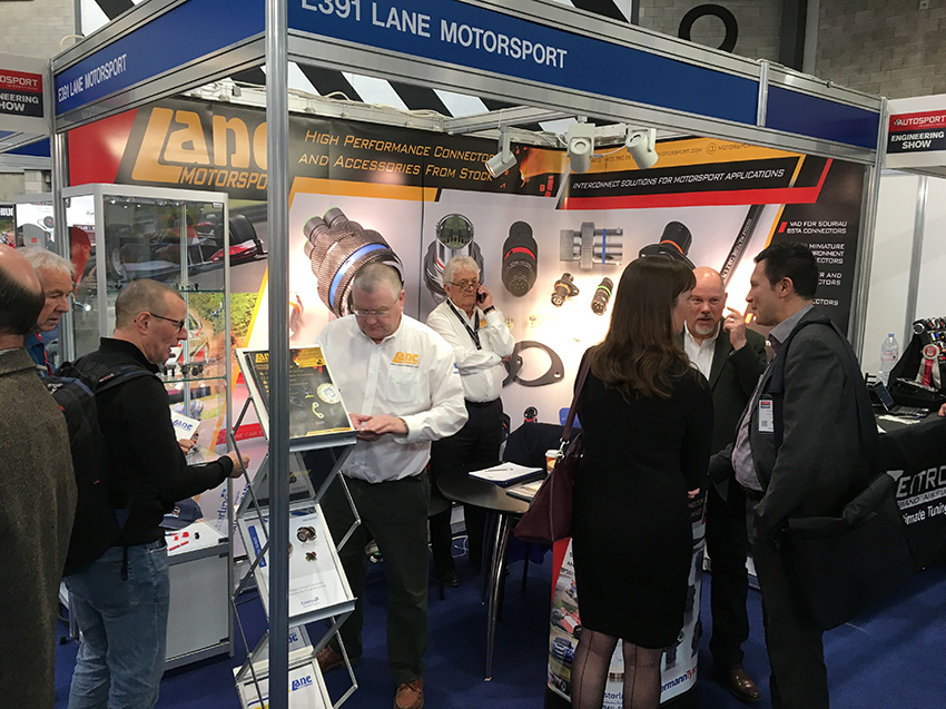 Lane Motorsport stand at Autosport International / Engineering