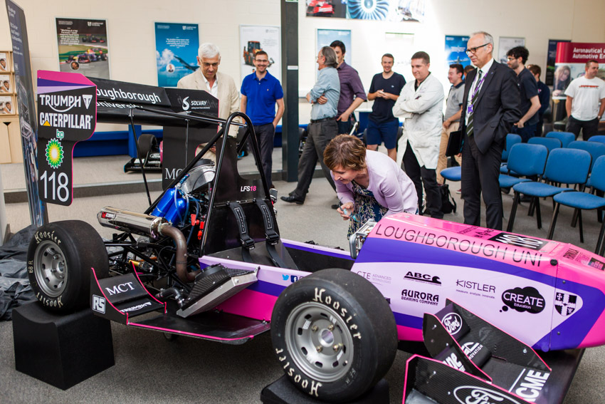 Loughborough's Formula Student team car