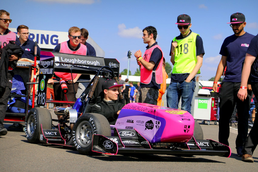 Loughborough's Formula Student team sponsored by Lane Motorsport