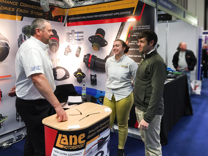Lane Motorsport stand on Autosport Engineering 2019 show