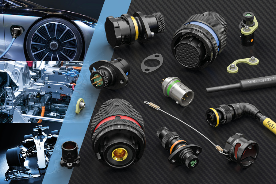 8STA Souriau connectors for EV and hybrid racing applications