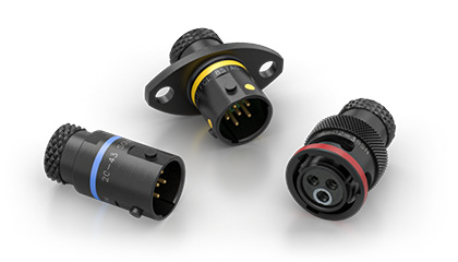 Souriau 8STA 02 size miniature, signal ip67 motorsport / autosport circular connectors for sensors, 3, 5 and 6 pins